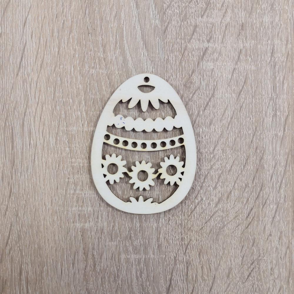 Drevený polotovar - veľkonočné vajíčko (Veľkonočné vajíčko - vzor kraslica)